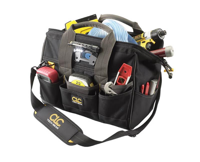 "14"" Tech-Gear Big Mouth Tool Bag - 29 Pockets"