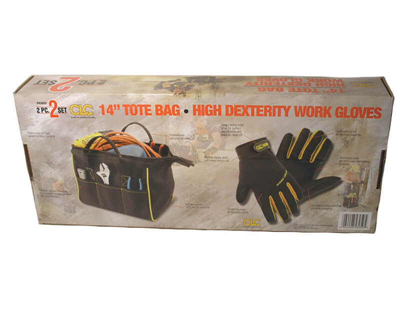 Heavy Duty Tote Bag With High Dexterity Work Gloves