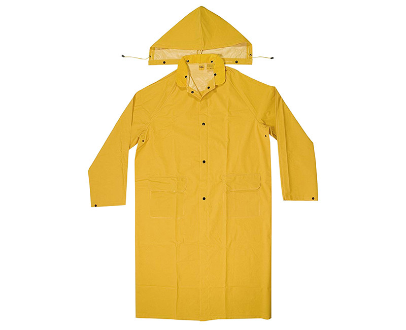 2 PIECE HEAVY WEIGHT PVC RAIN COAT LARGE HANG UP PACK