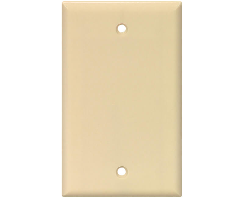Single Blank Switch Plate - Ivory Bulk