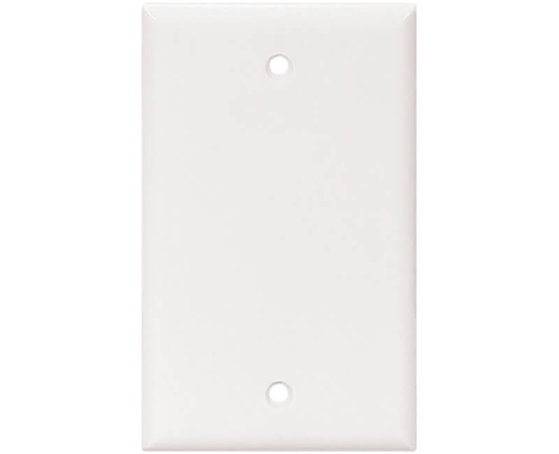 Single Blank Switch Plate - White Bulk