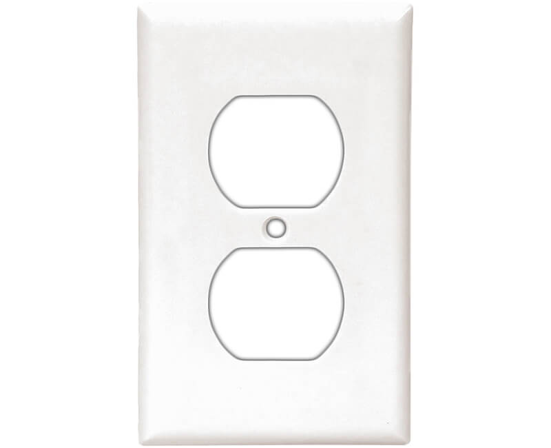 Single Gang Duplex Receptacle Wall Plate - White Bulk