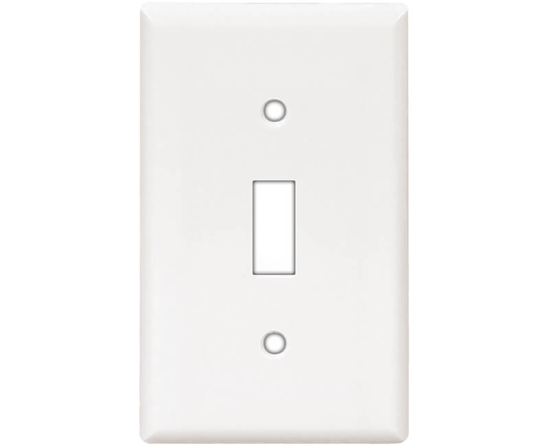 Single Gang Switch Plate - White Bulk
