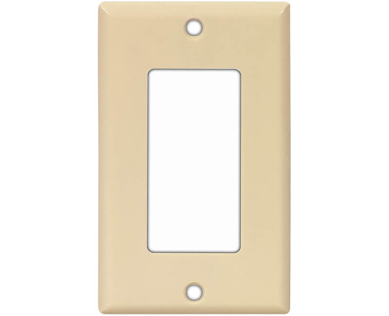 Single Gang Decorator Plate - Ivory Bulk