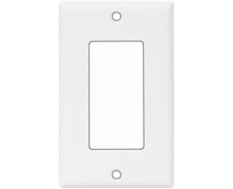 Single Gang Decorator Plate - White Bulk