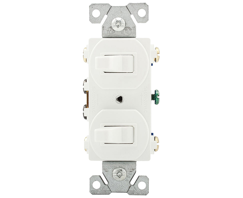Switch Duplex Combination 3 Way - 15A White