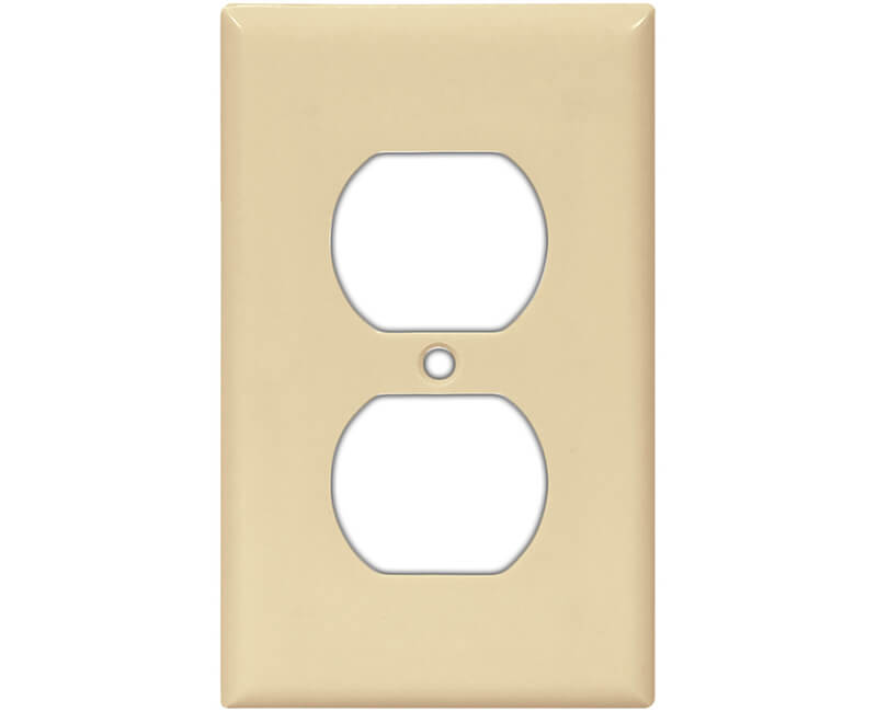 Single Gang Duplex Receptacle Wall Plate - Ivory Bulk