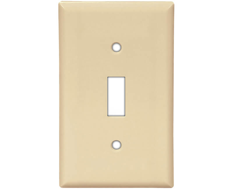 Single Gang Toggle Switch Plate - Ivory Bulk
