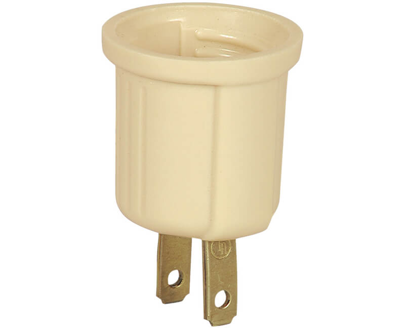 Outlet To One Socket Adapter - Bulk