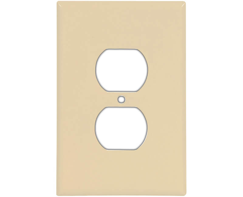 Oversized Duplex Receptacle Wall Plate - Ivory Bulk