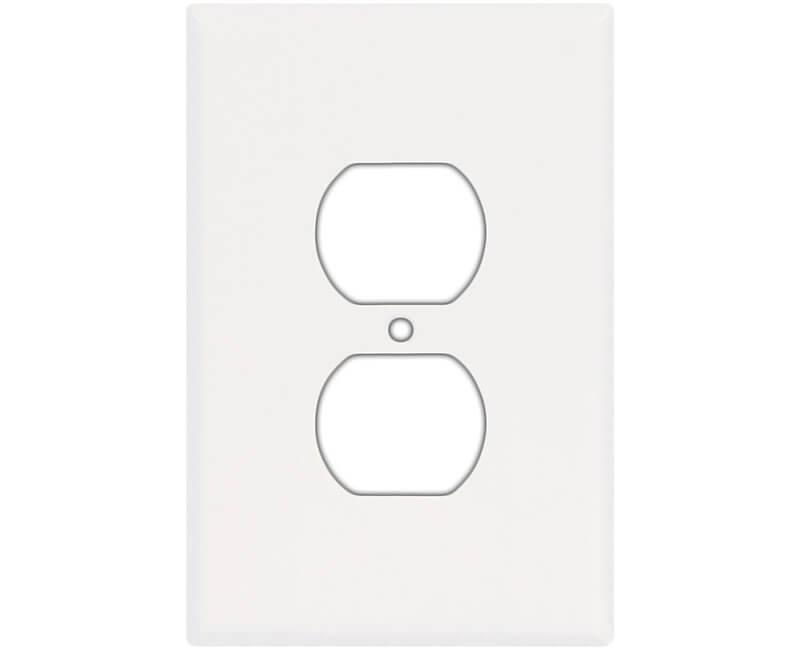 Oversized Duplex Receptacle Wall Plate - White Bulk
