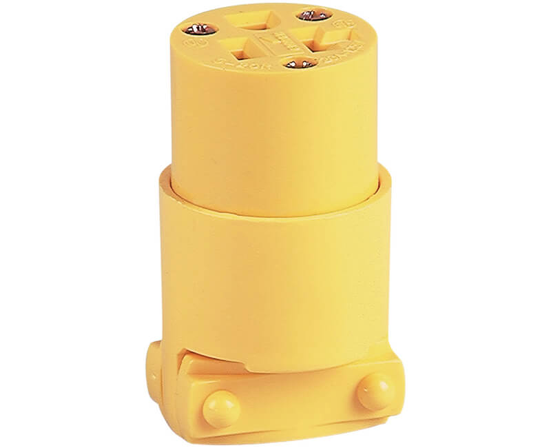 20 AMP 120V Grounded Thermoplastic Vinyl Connectors - Bulk