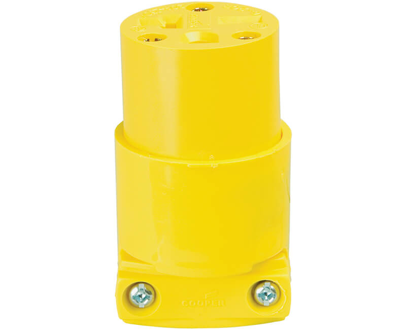 20 AMP 250V Grounded Thermoplastic Vinyl Connectors - Bulk