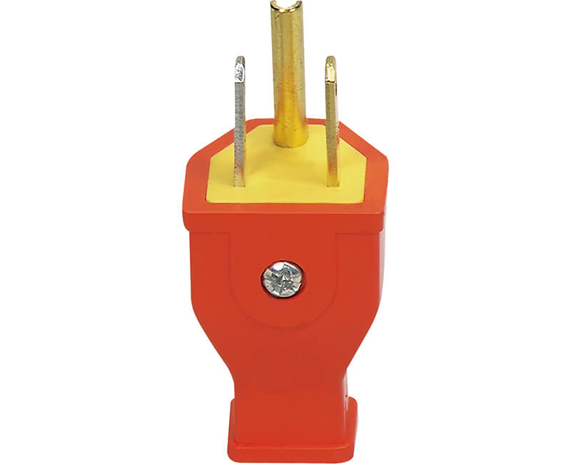 15 AMP 125V Grounded Thermoplastic Plug - Bulk
