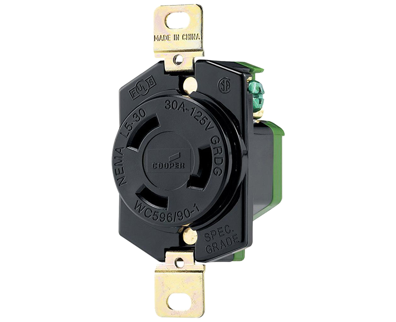 Locking Recp Single 2P 3W - 30A, 250V