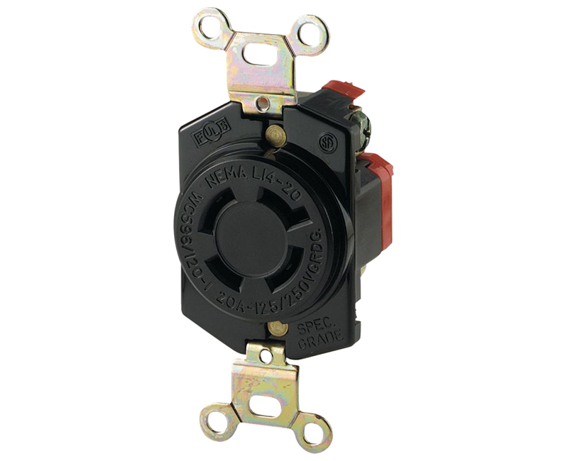 Locking Recp Single 3P 4W - 20A
