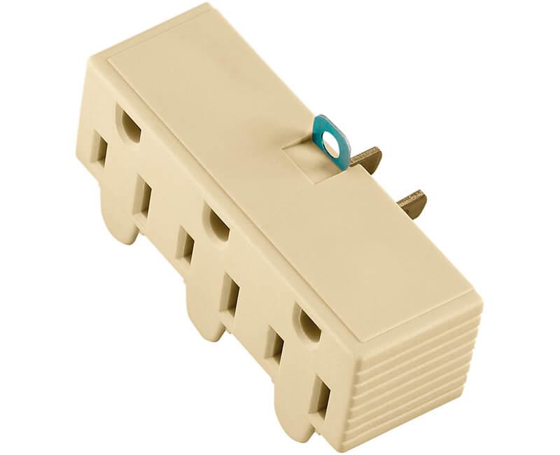 Triple Grounding Adapter - Ivory Bulk