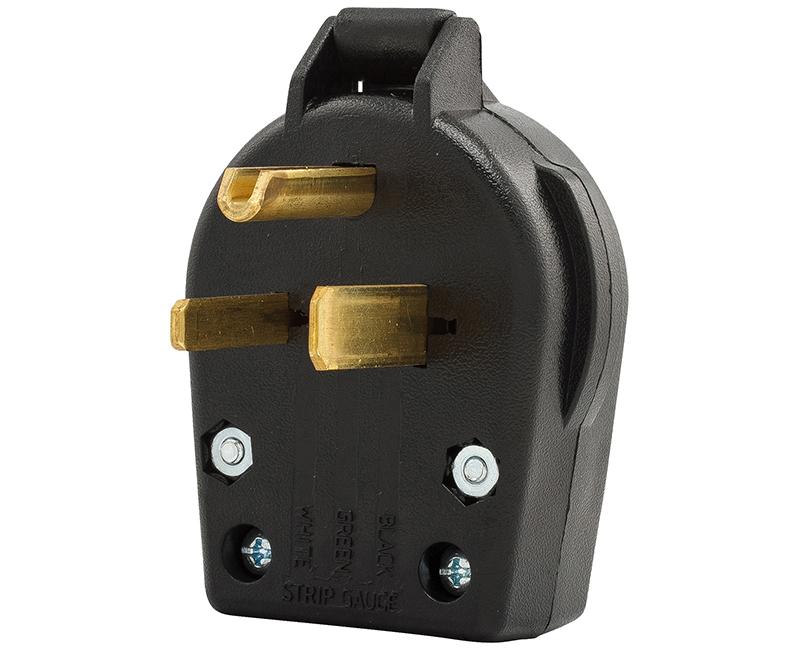 Plug Angle Univ 2P 3W - 30/50A Black