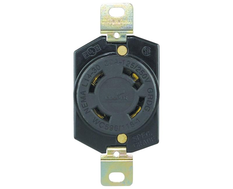 Locking Recp Single 3P 4W - 30A