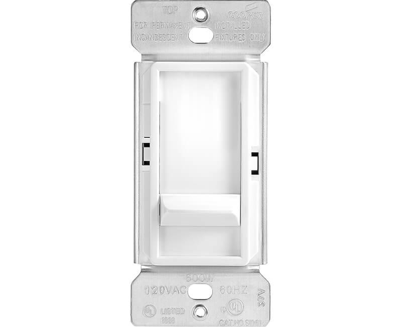 600 Watt Preset Slide Dimmer - White