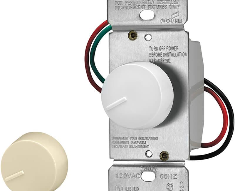 600 Watt Rotary Dimmer - White
