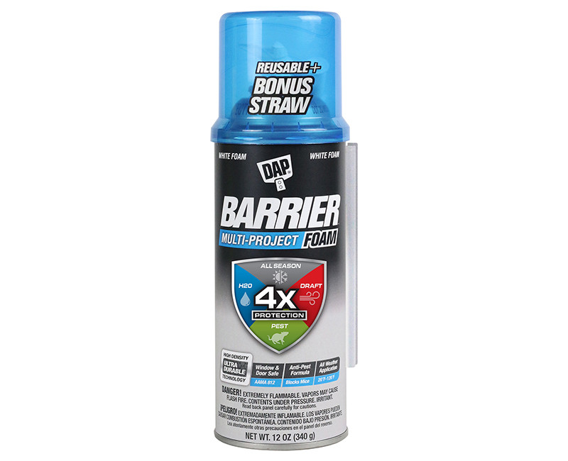BARRIER MULTI PROJECT FOAM 4X PROTECTION 20 DEGREES TO 120 DEGREES FAHRENHEIT - ALL SEASON STOPS DRAFTS,BLOCKS WATER, & BLOCKS PEST