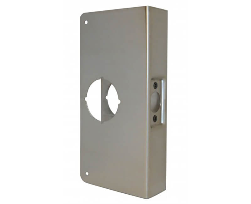 "4"" x 9"" Wrap Around Plate For 1-3/8"" Door - US32D"