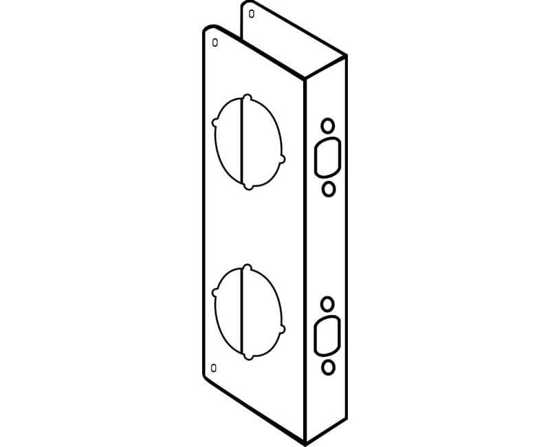 """4"""" x 9"""" Wrap Around Plate For 1-3/8"""" Door - US3"""