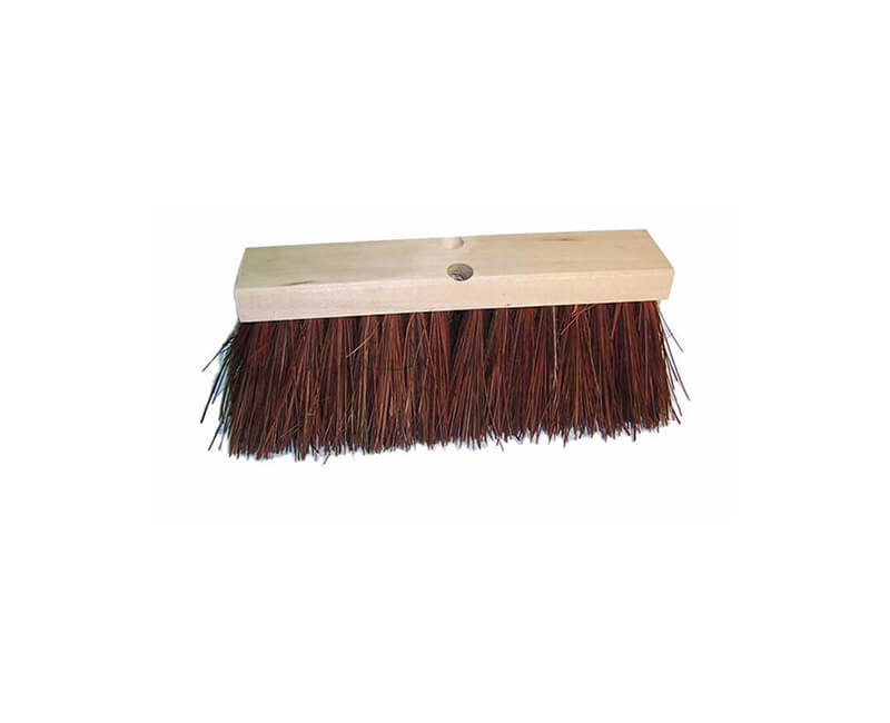 "16"" Street Broom - 6 1/4"" Red Palmyra Head Only"