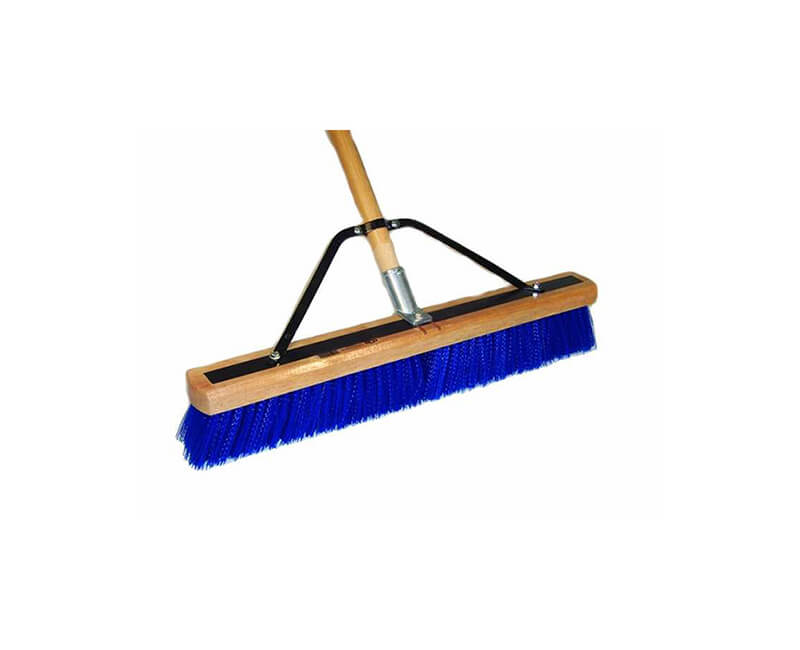 "Heavy Duty Contractor Sweep - 4"" Stiff Blue"