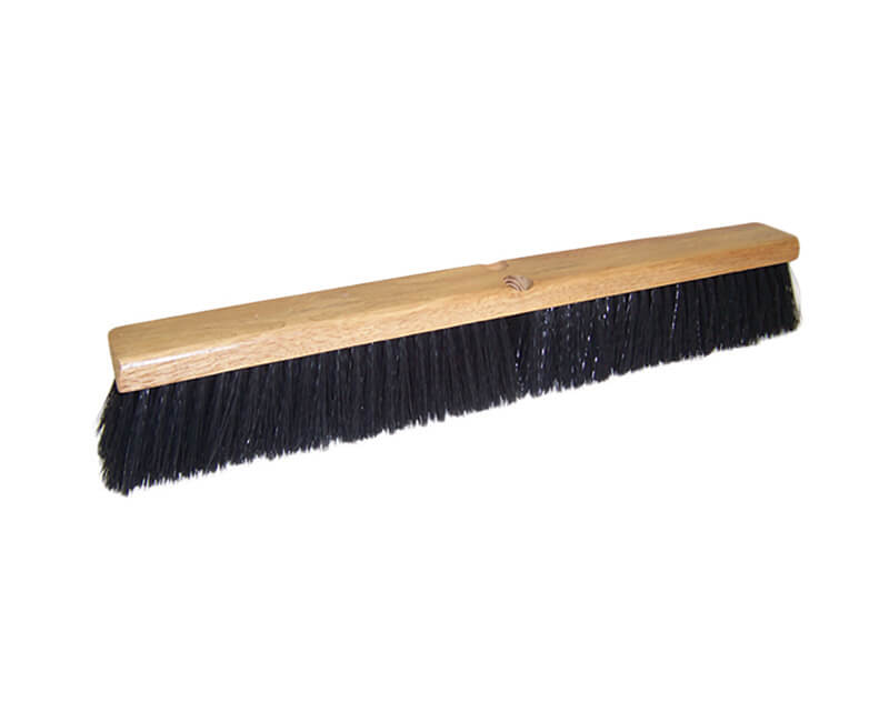 "18"" Black Poly Floor Sweep - Head Only"