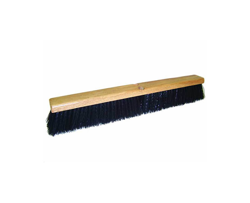 "24"" Black Poly Floor Sweep - Head Only"