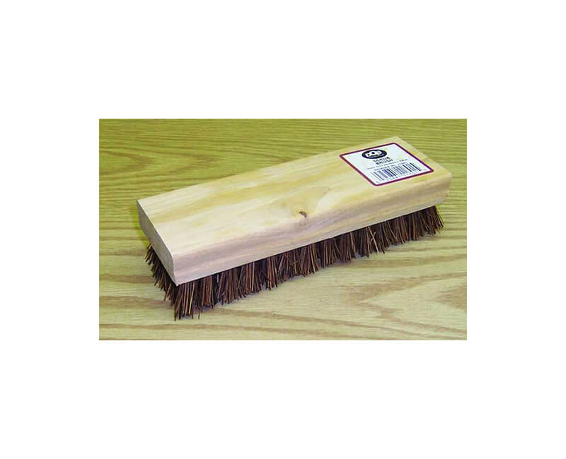 "8"" White Tampico Square Block Scrub Brush"