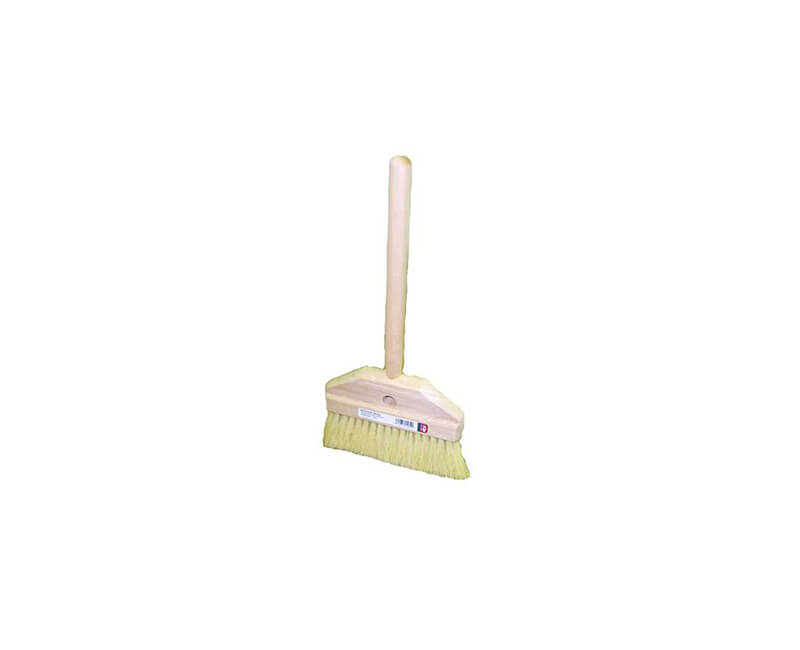 "7"" White Tampico Acid Brush With 10"" Tapered Handle"
