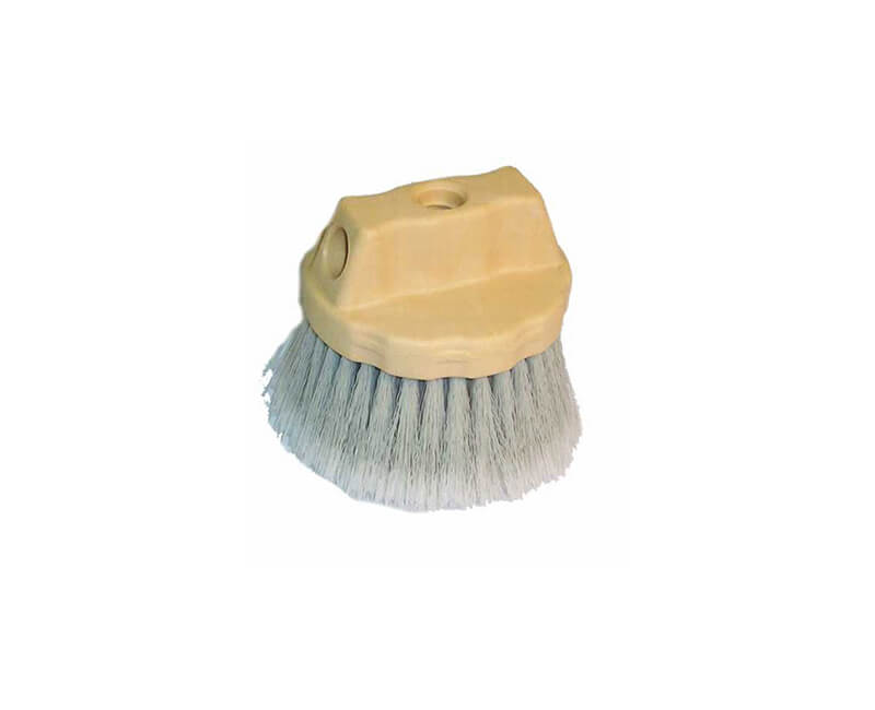 "4 1/2"" Gray Flagged Window And Vehicle Round Brush"