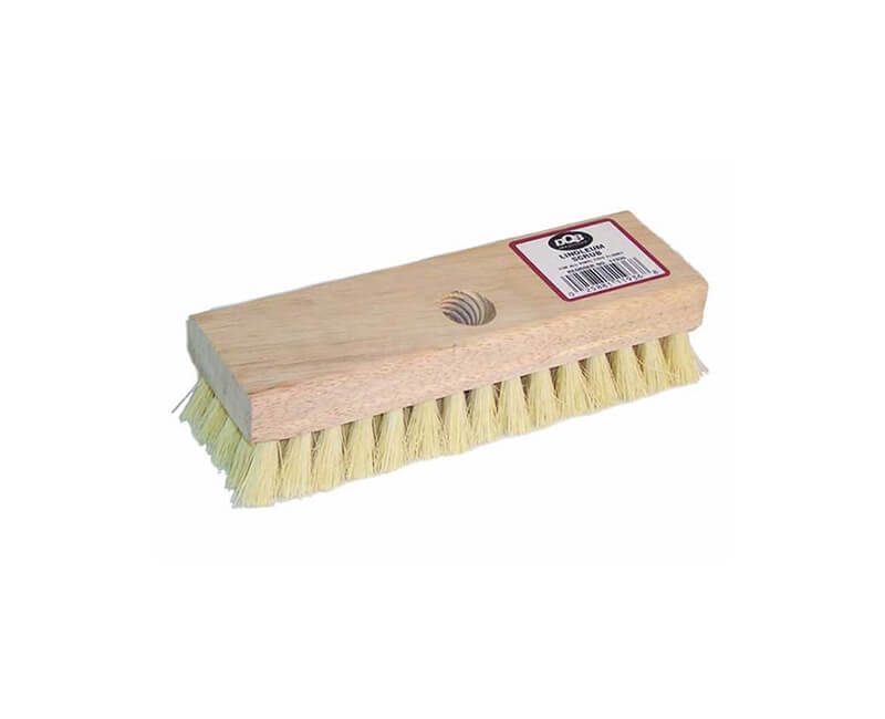 "7 3/4"" Tampico Poly Linoleum Scrub Brush"