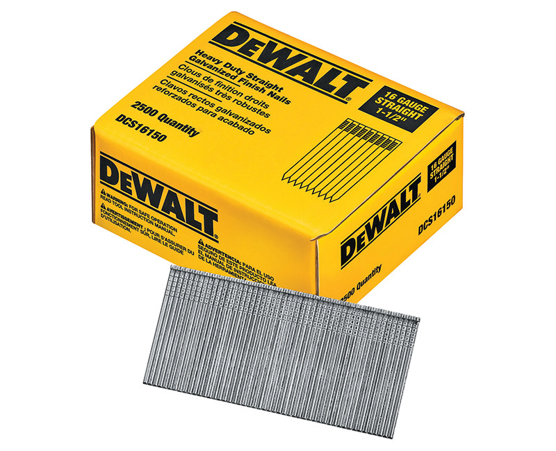 """1-1/2"""" 16 Gauge Straight Finishing Nails - 2500 Count"""