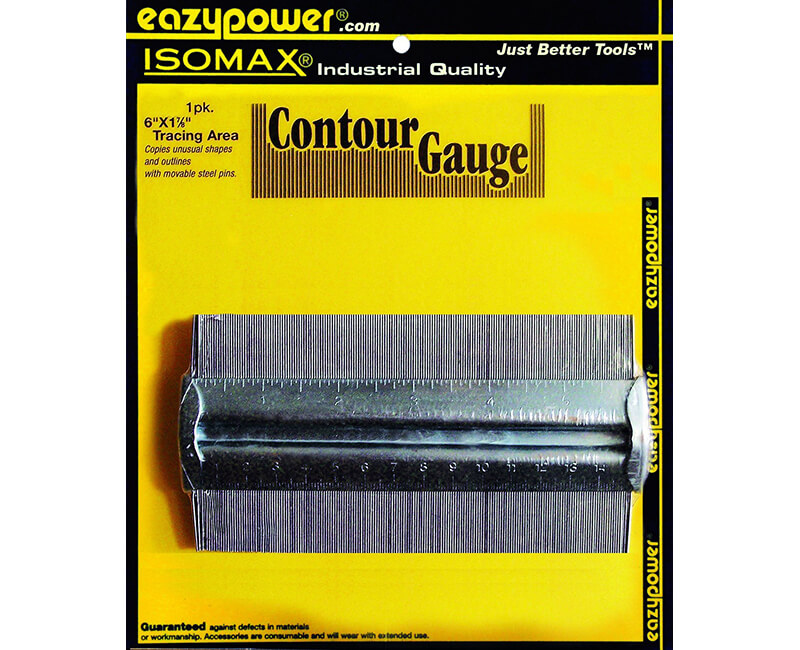 Zinc Plated Contour Gauge - Carded
