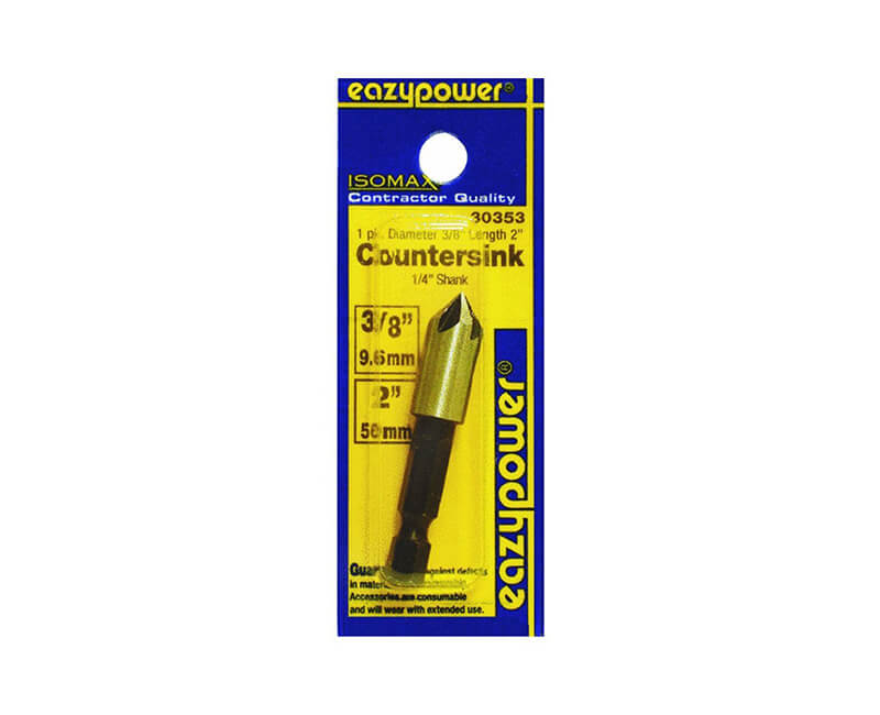 "3/8"" Countersink With 1/4"" Hex Shank - Carded"