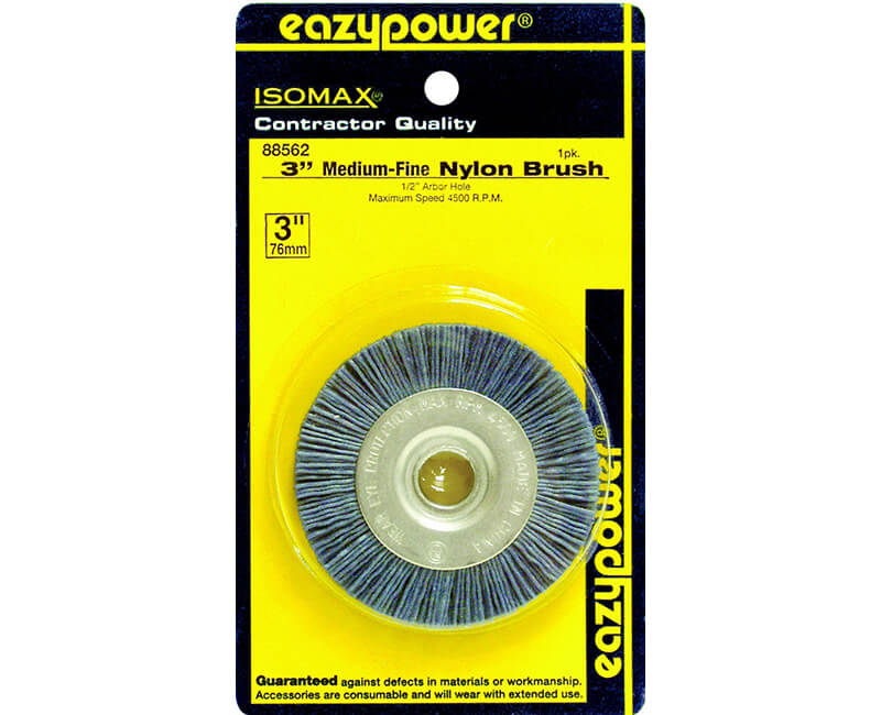"3"" X 1/2"" Nylon Wire Brush - Carded"