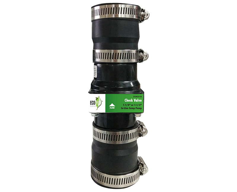 "Inline Check Valve 1-1/4"" Or 1-1/2"" Connection, Fits 2"" Discharge Lines"