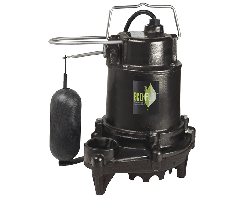 1/3 HP Contractor Style Heavy Duty Cast Iron Sump Pump W/ Vertical Switch + Guard