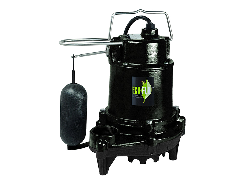 1/2 HP Contractor Style Heavy Duty Cast Iron Sump Pump W/ Vertical Switch + Guard