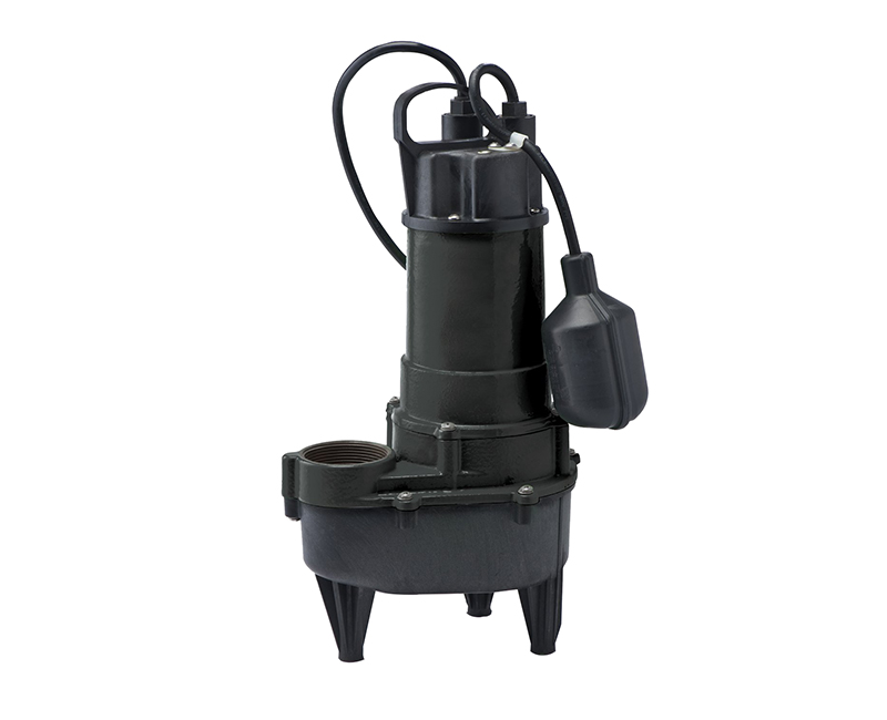 1/2 HP Heavy Duty Cast Iron Sewage Pump W/ Wide Angle Switch