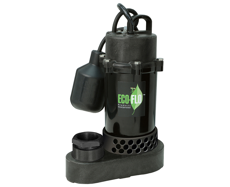 1/3 HP Anodized Aluminum/Thermoplastic Sump Pump W/ Wide Angle Switch