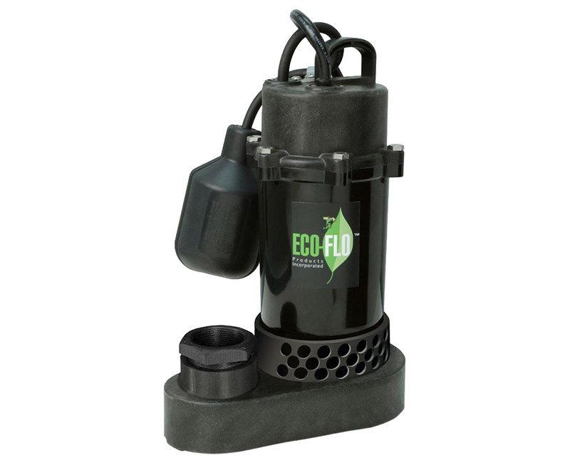 1/2 HP Anodized Aluminum/Thermoplastic Sump Pump W/ Wide Angle Switch