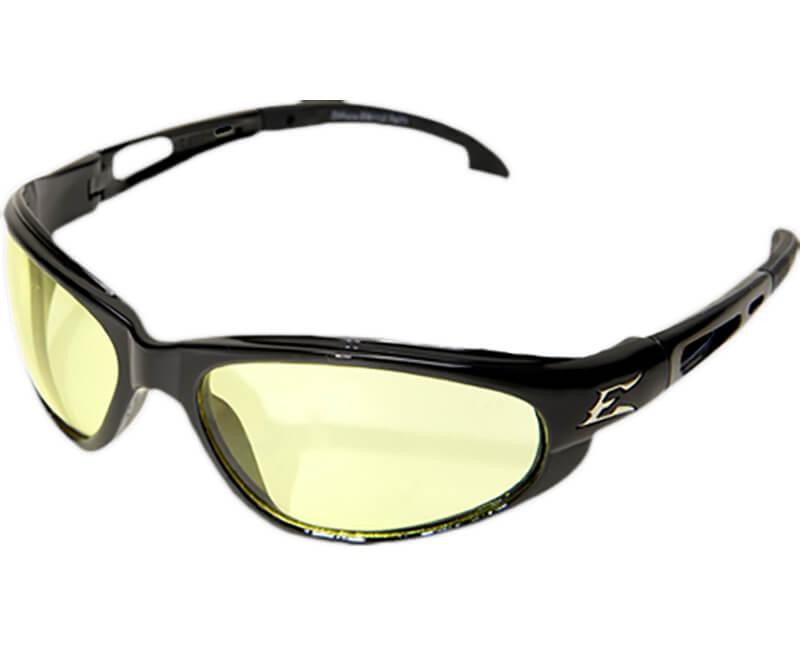 Dakura Non-Polarized Black Safety Glasses - Yellow Lens