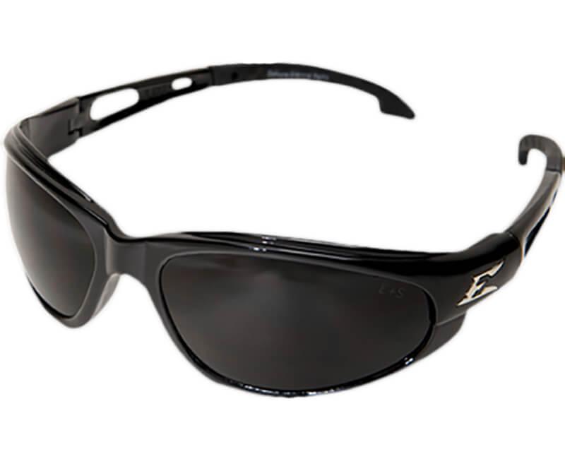 Dakura Non-Polarized Black Safety Glasses - Smoke Lens