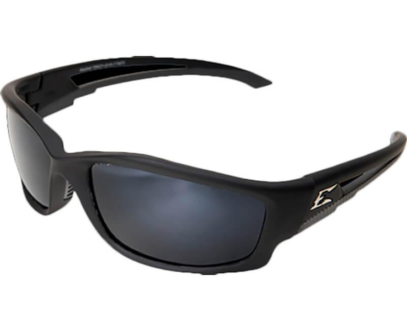 Kazbek Polarized Black Safety Glasses - G-15 Silver Mirror Lens