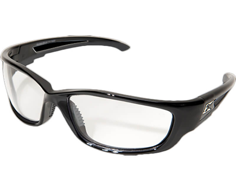 Kazbek XL Non-Polarized Black Safety Glasses - Clear Lens